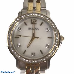 Bulova Watch & Crystal Necklace NWT